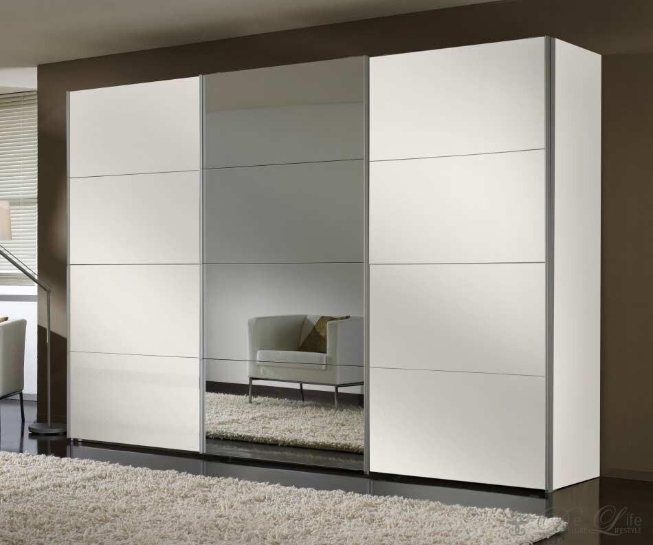 Spiegel kleiderschrank mit schiebetüren  Kleiderschrank Weiß Spiegel: Kleiderschrank weiß 150cm »u2013u203a ...